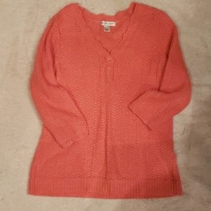 Christopher & Banks Coral Sweater